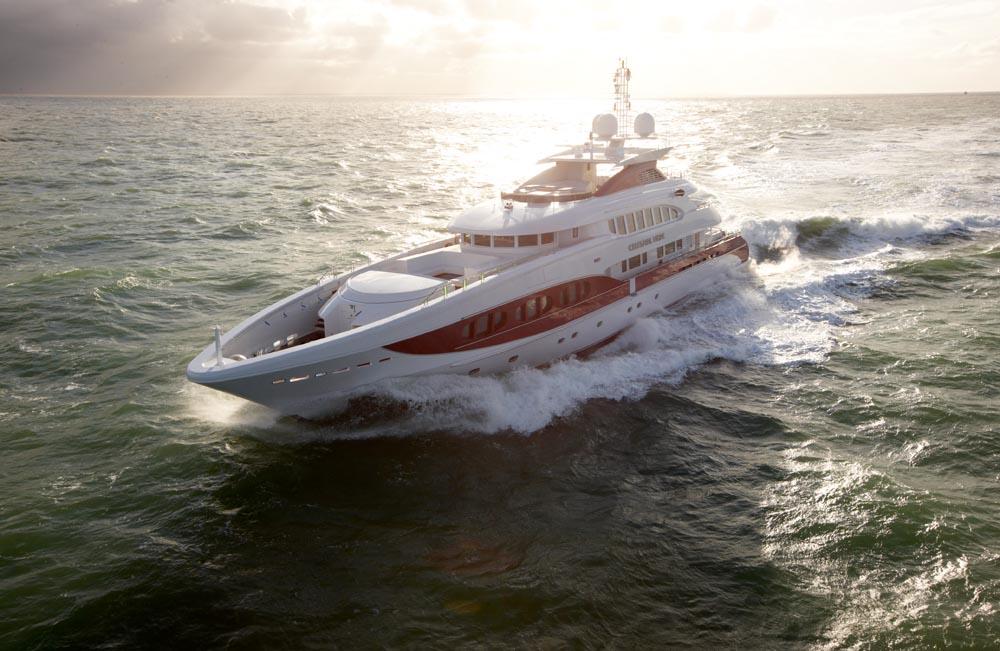 Heesen yachtsSeatrials at the North Sea, 2008.