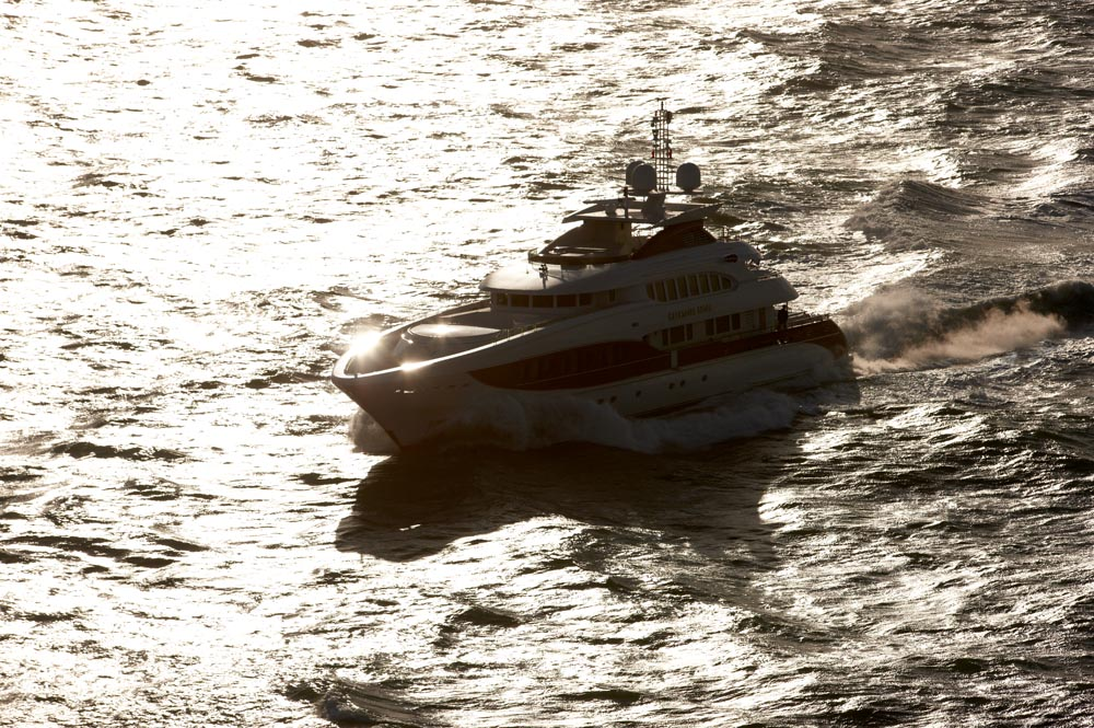 Heesen yachtsSeatrials at the North Sea, 2008.