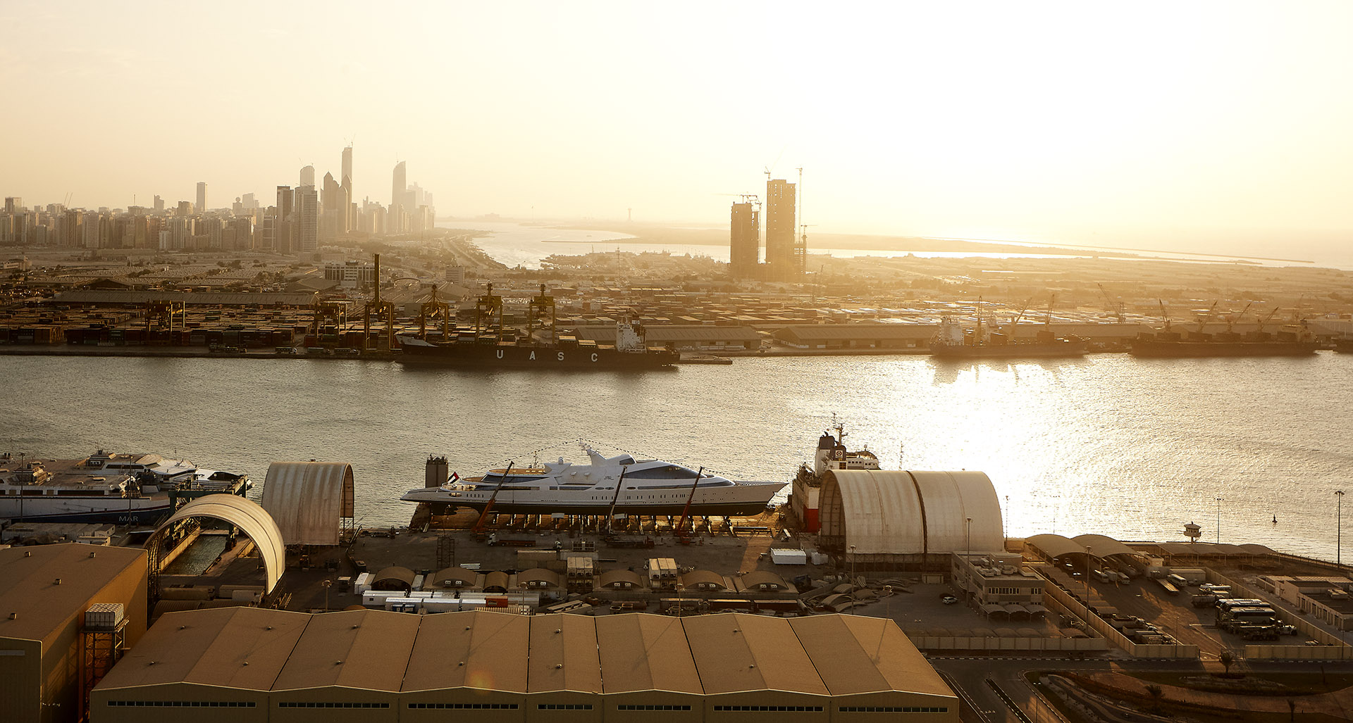 M/Y YAS during the launch November 2011 in Abu Dhabi