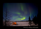 Northern lights and tent