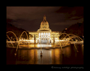 Picture of Alberta Legislature Building at night in Edmonton, Alberta, Canada.