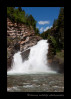 This is the famous Cameron Falls. These falls are located right in the town of Waterton, Alberta.