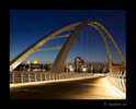 City of Edmonton bridge and legislature night scene