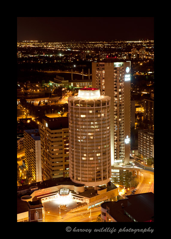 Crowne Plaza Evening Aerial View