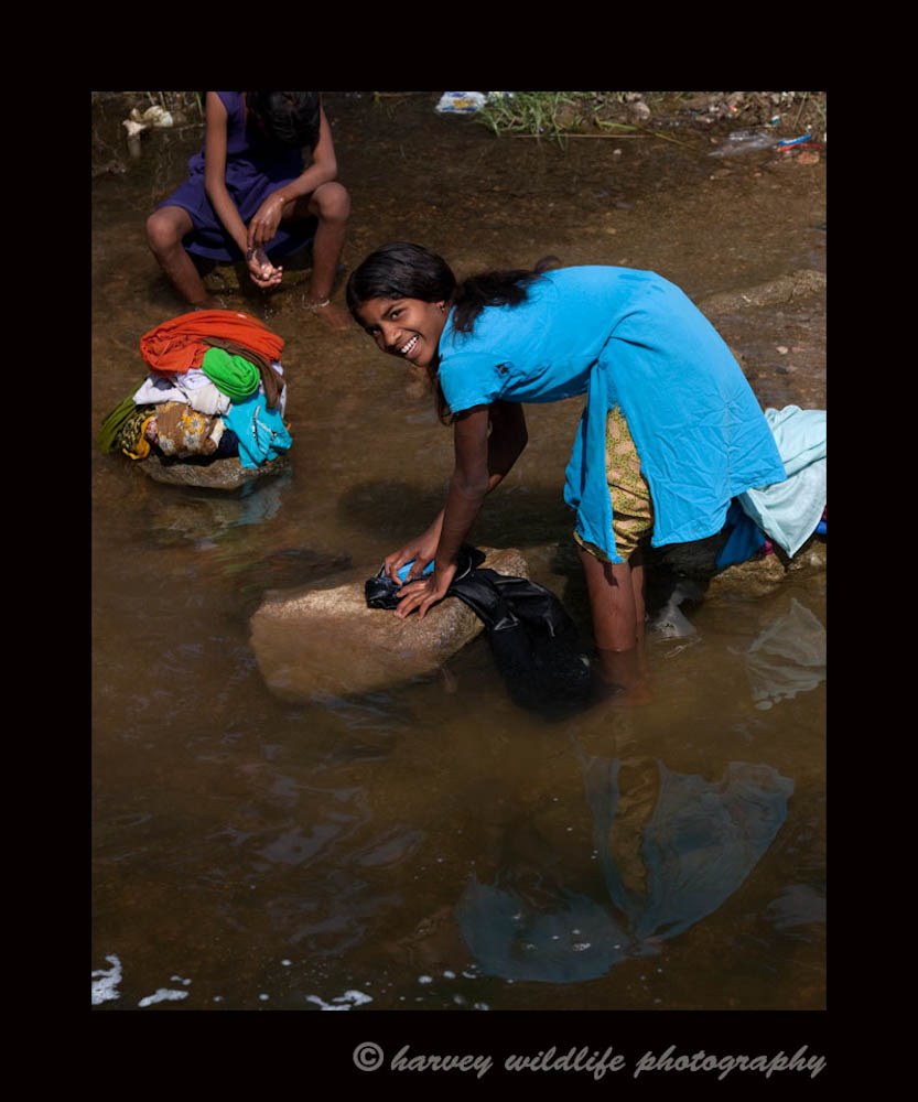 After asking if I could photograph this young lady she obliged. In India you see so many people bathing and doing laundry in the rivers that I really wanted at least one picture as a keepsake.
