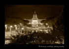 Sepia picture of the Alberta Legislature in Edmonton.