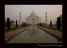 This picture of the Taj Mahal is what you see as you come in through the front gates.