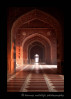There is a mosque on either side of the Taj Mahal. This is the hallway of one the mosque on the west side.