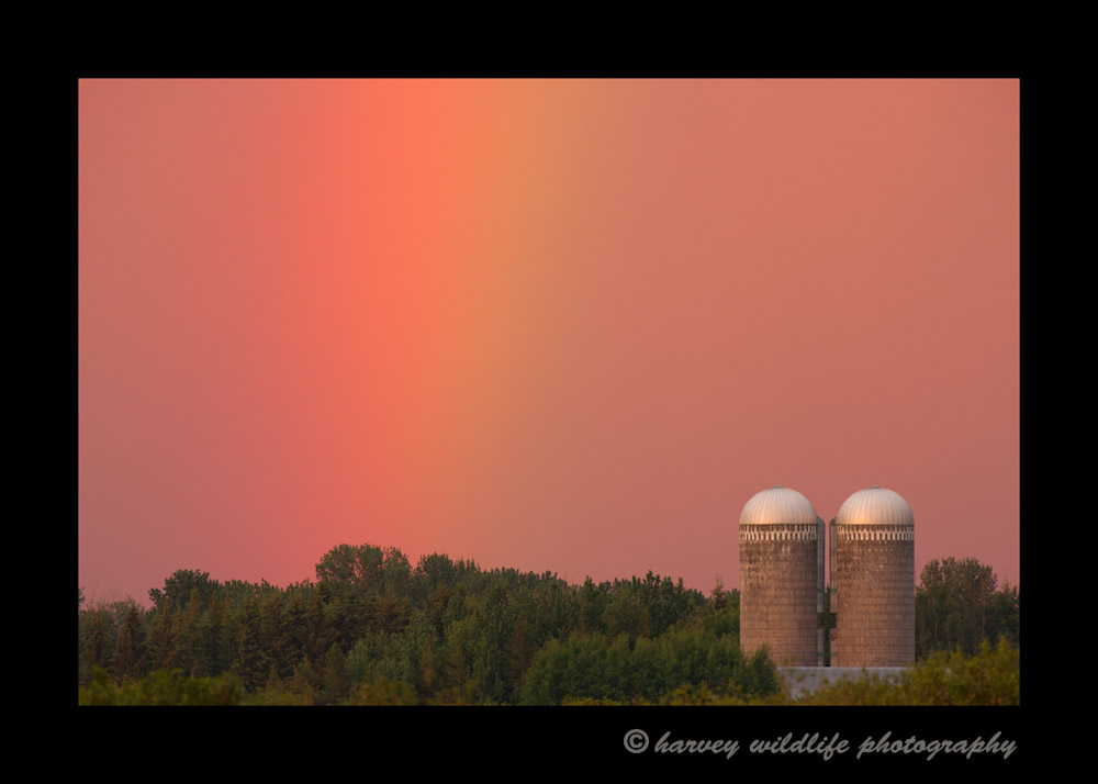 Rainbow over Silos
