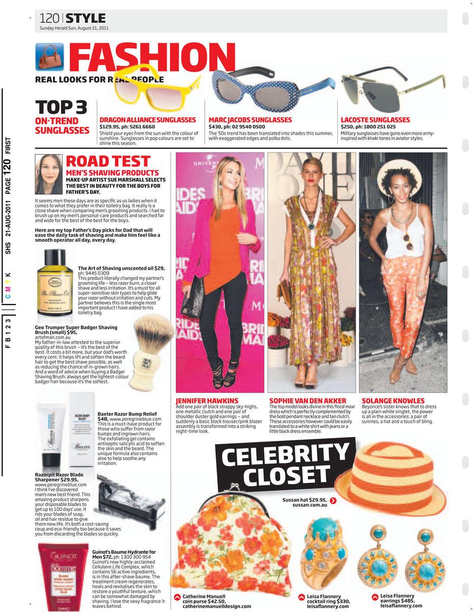 Sunday Herald Sun 21/08/2011 PAGE=120