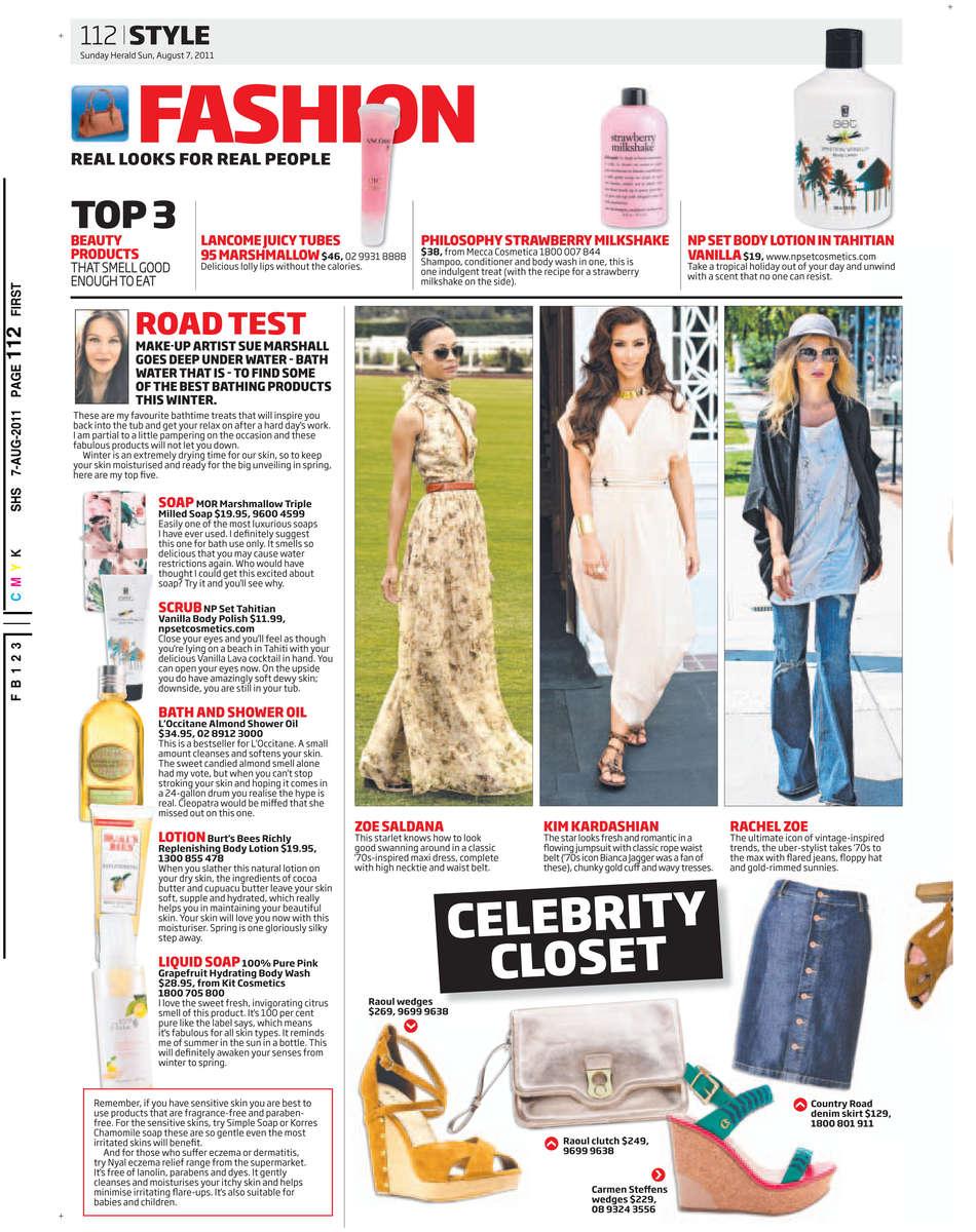 Sunday Herald Sun 07/08/2011 PAGE=112