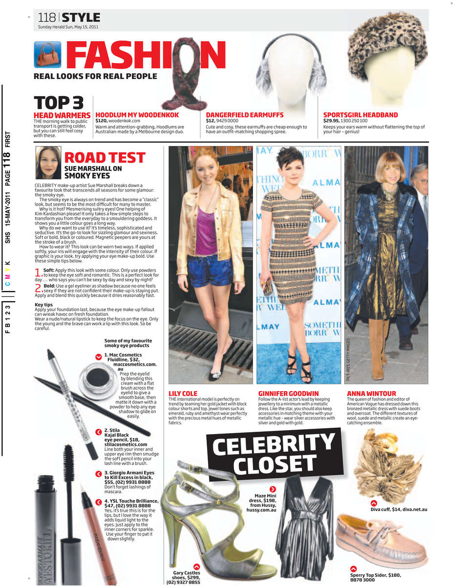 Sunday Herald Sun 15/05/2011 PAGE=118