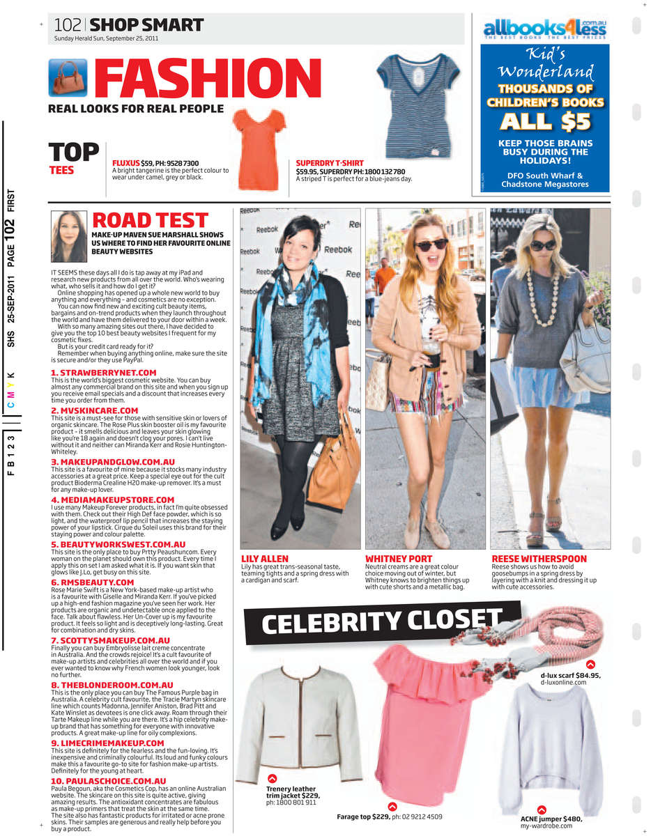 Sunday Herald Sun 25/09/2011 PAGE=102