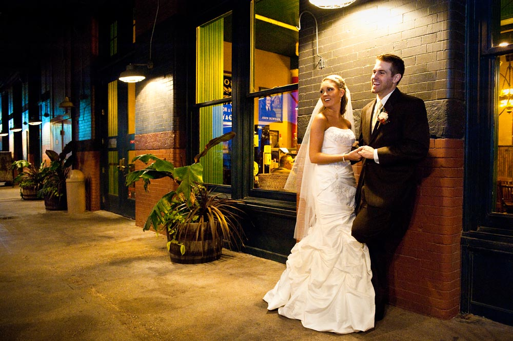 Wedding photo shot in Omaha's Old Market