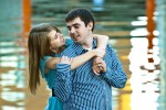 Engagement photograph of Katie and Anthonymade in Omaha Nebraska by photographer James Nedresky
