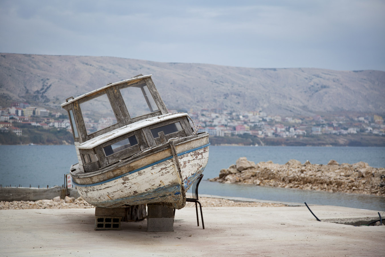 In disrepair, Pag, Croatia