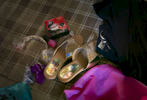 Nur Begum's shoes are seen before her wedding