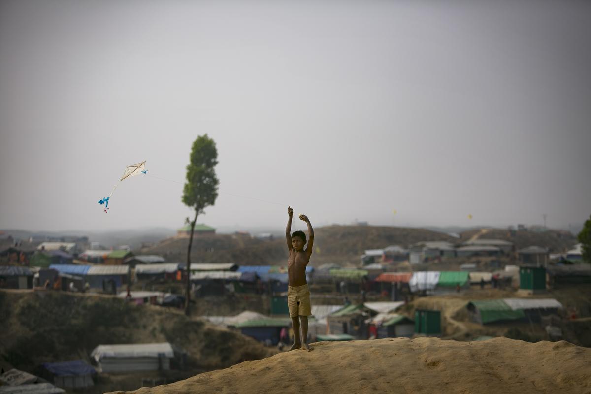 Rohingya refugees are seen in Balukhali camp