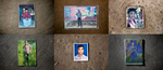 Photos of men who were trafficked or are missing after getting on boats to immigrate to South East Asia