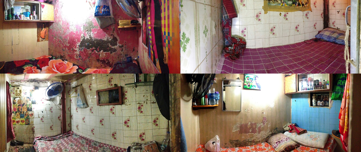The rooms (cells) where girls must see customers are seen in a brothel in Mumbai, India