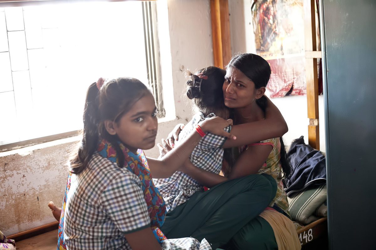 Bangladeshi trafficking survivors break down in tears in the Rescue Foundation shelter in India after they learn that the Bangladesh government has yet again denied their request to return home. Many of the girls have been at the shelter for more than two years, trying to return back to Bangladesh.