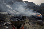 Locals illegally scavenge for coal in Jharia.