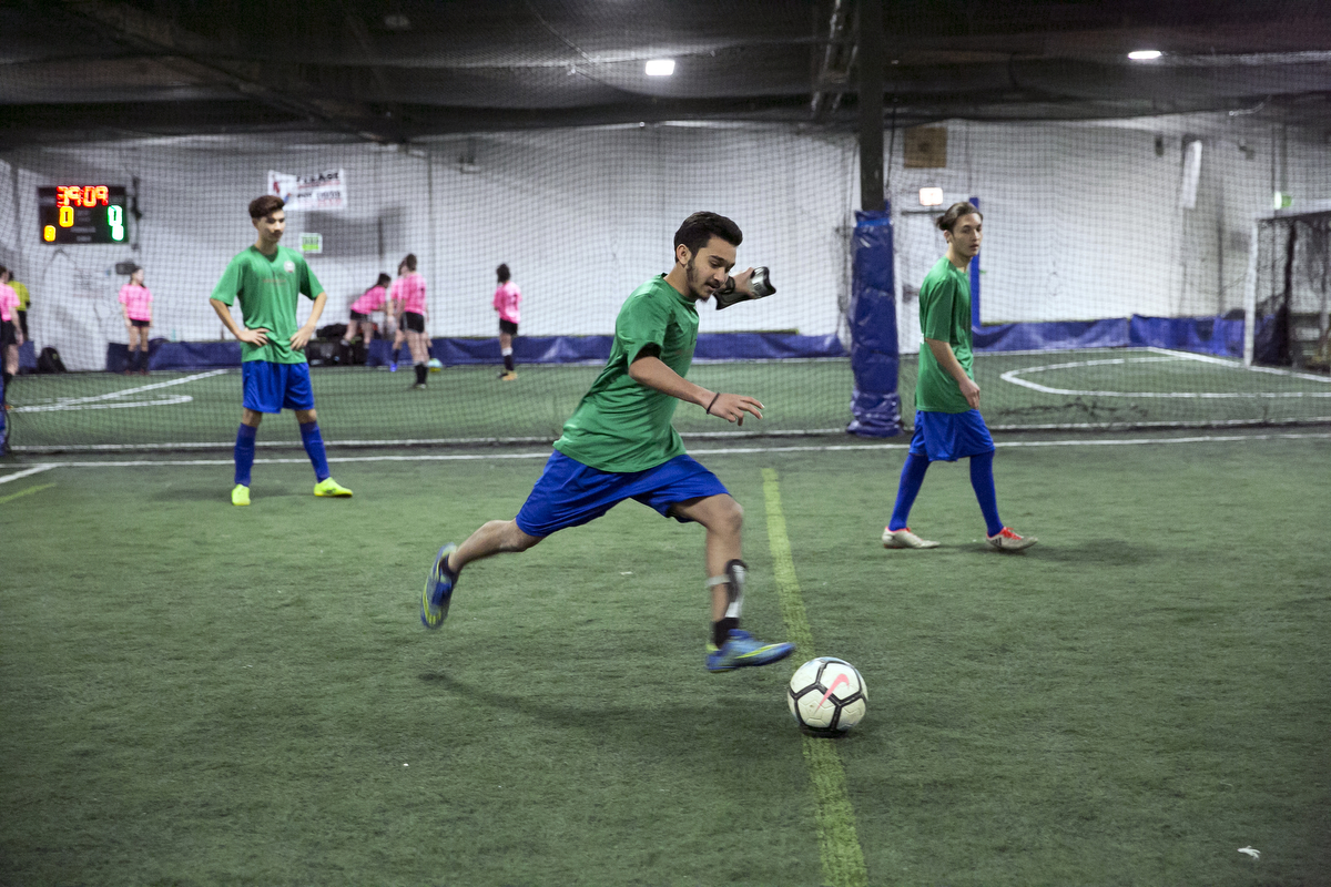 The Rohingya Cultural Center of Chicago soccer team plays