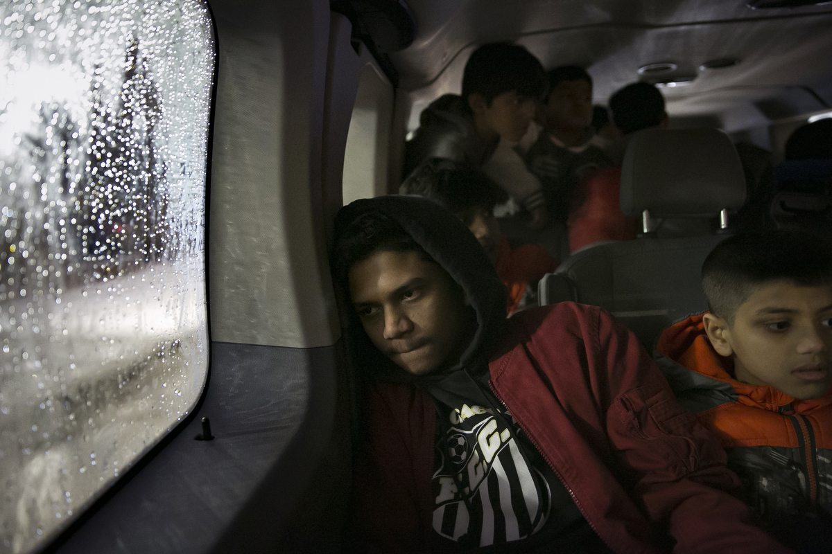 Rohingya soccer players travel back home after a game
