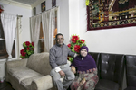 Mohammad Shukor and his wife Noor Jahan pose for a photo in their home on January 12, 2019 in Chicago, Illinois. The Shukor family arrived in Chicago in 2014 from Malaysia. Mohammad Shukor fled Myanmar in 1978 after the military shot him and arrested his father, who died in jail. He fled to Thailand by boat and spent 5 years there before making his way to Malaysia with his family. In Malaysia he and his family were denied an education, had to work illegally, and were frequently arrested and harassed by authorities. When he and his family were resettled in the US he says he {quote}felt so happy to finally have a country, to finally have a place to call home{quote}.