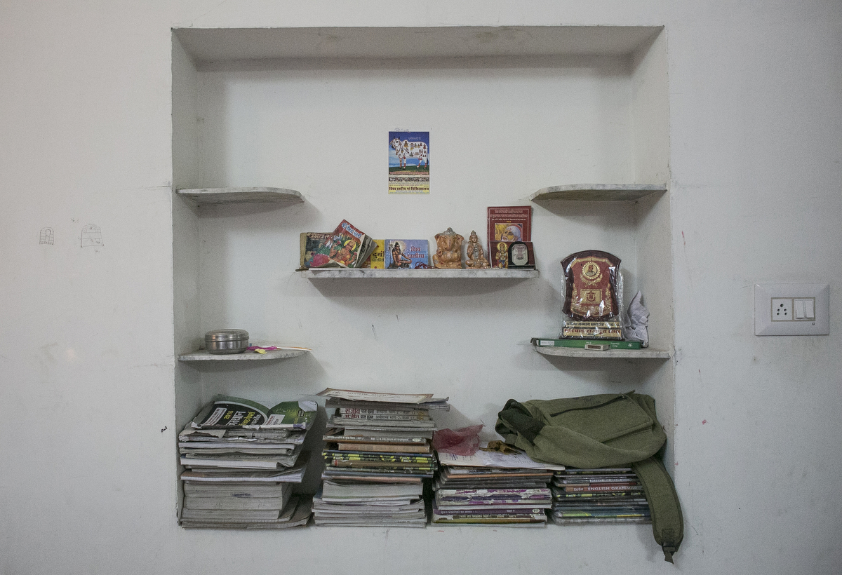 Notebooks are seen at the Veerni Institute
