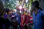 29 year old Zahrul Haque Kajal arrives to his wedding, where he will marry 13 year old Runa Akhter