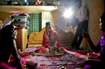 15 year old Nasoin Akhter poses for a video on the day of her wedding to a 32 year old man,