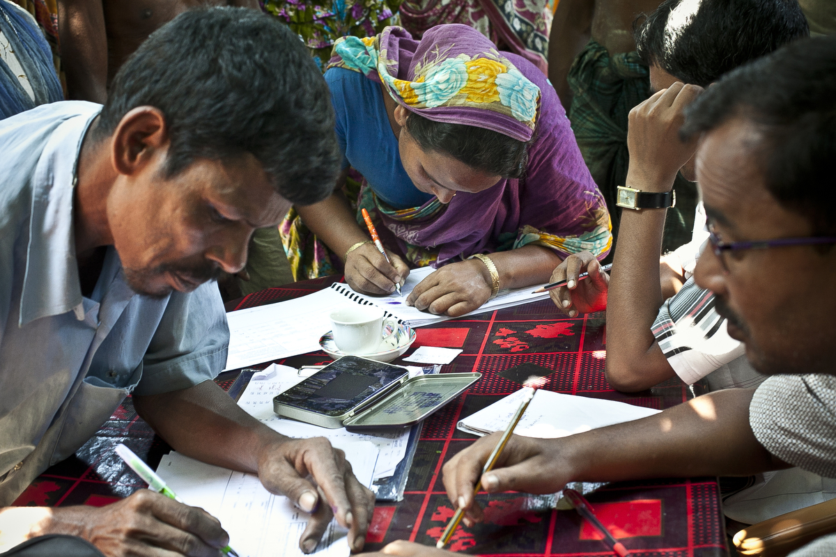 Bash Kata Indian enclave residents choose their citizenship with the Enclaves Exchange Coordination Committee in Lalmonirhat District, Bangladesh.