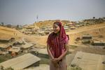 Senuara, 17, is seen in Balukhali camp March 6, 2018 in Cox's Bazar, Bangladesh. Photo by Allison Joyce for UN Women
