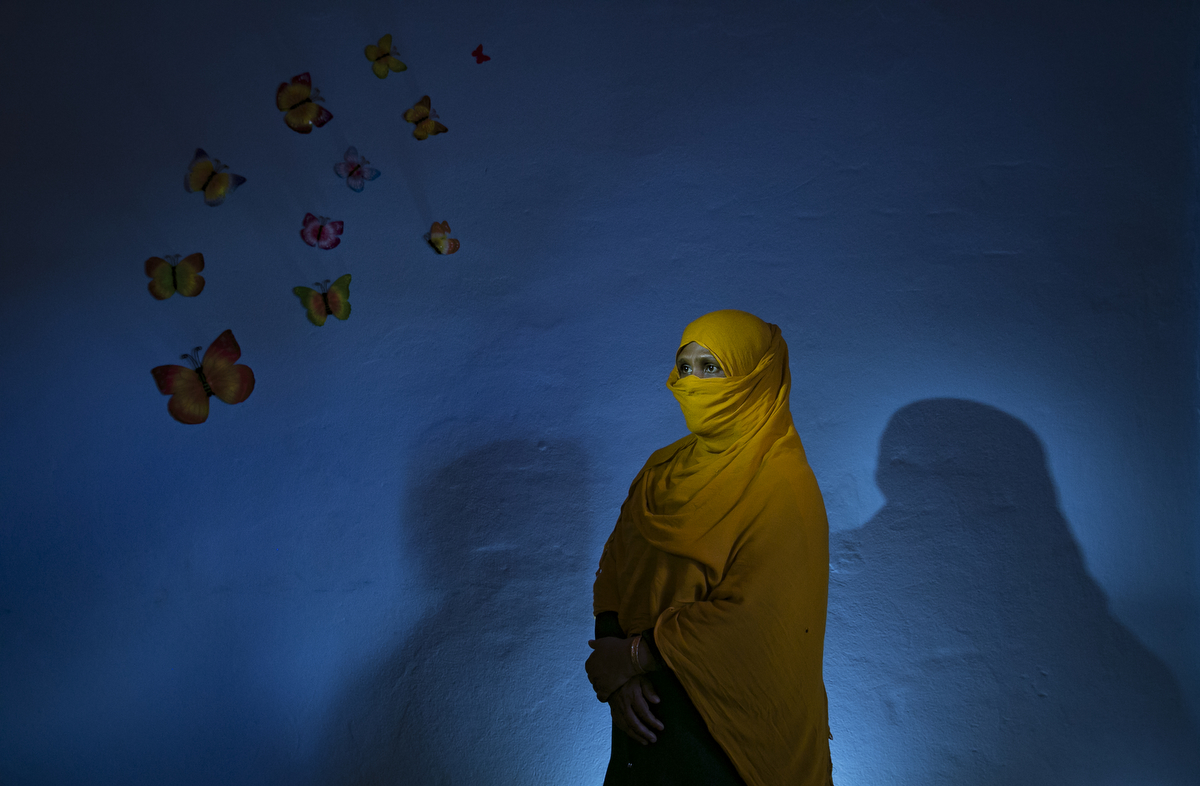 Nasreen poses for a photo at a UNFPA Women Friendly Space June 28, 2018 in Cox's Bazar, Bangladesh. Allison Joyce/UNFPA