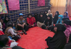 UN Women Executive Director, Phumzile Mlambo-Ngcuka  meets with women at an Action Aid Women Friendly Space in Balukhali Rohingya Refugee camp February 1, 2018 in Chittagong district, Bangladesh. UN Women/Allison Joyce