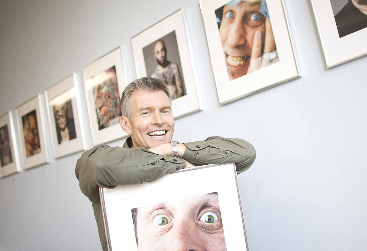 Simon Rogers, CEO and owner of Ugly NY, stands for a picture in his Manhattan office. Ugly NY is an agency exclusively casting 'ugly' talent.