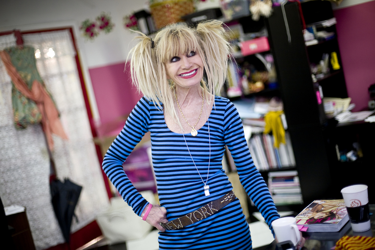 Betsey Johnson is seen in her studio in New York City