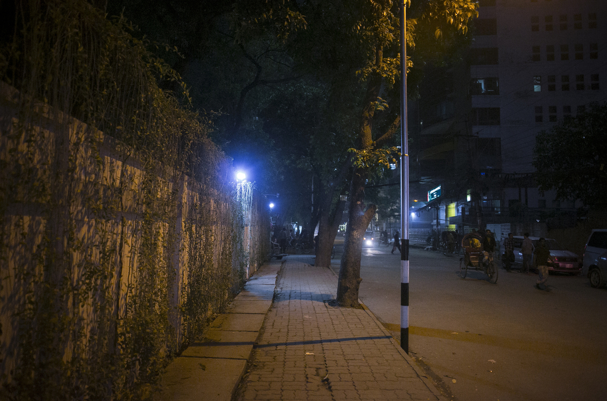The place where Tavella Cesare was shot and killed is pictured in Dhaka, Bangladesh. On September 28, 2015, Tavella was jogging when he was murdered, an attack that ISIS claimed responsibility for.