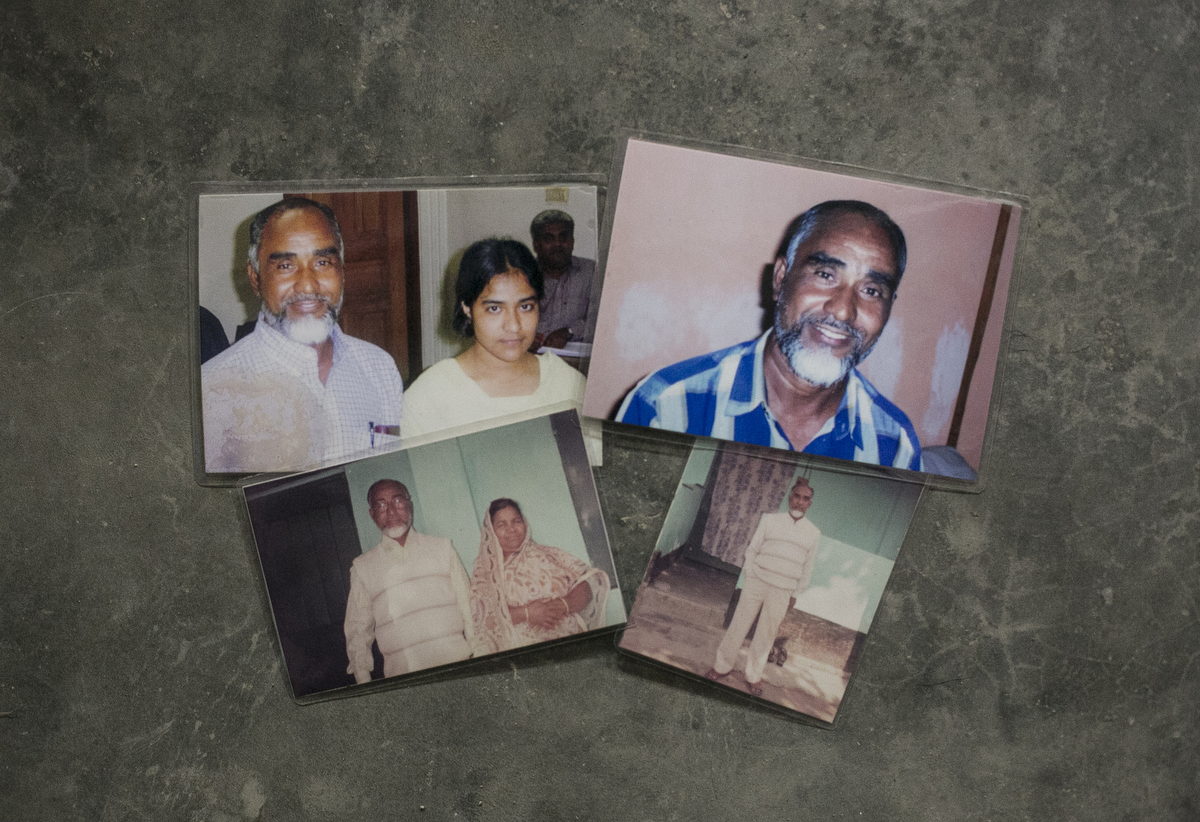 Photographs of Christian convert Hossain Ali with his family are seen in Kurigram, Bangladesh. On March 22 Ali was taking his usual morning walk when he was attacked and died. Ali was a Navy Commander during Bangladesh's 1971 Liberation War, and converted to Christianity 16 years ago. The police warned him and his family to be careful and limit their movement because of the ongoing security issues, but Ali felt safe since he said he had no enemies. ISIS claimed responsibility for his murder. He is remembered as a gentle, simple and happy man, and he leaves behind a wife, mother, and three children.
