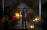 Reverend Barnbash, who has received death threats from ISIS, leads a service at a village church in Bangladesh.