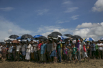 Rohingya refugees attend a ceremony organized to remember the second anniversary of the Rohingya crisis on August 25, 2019