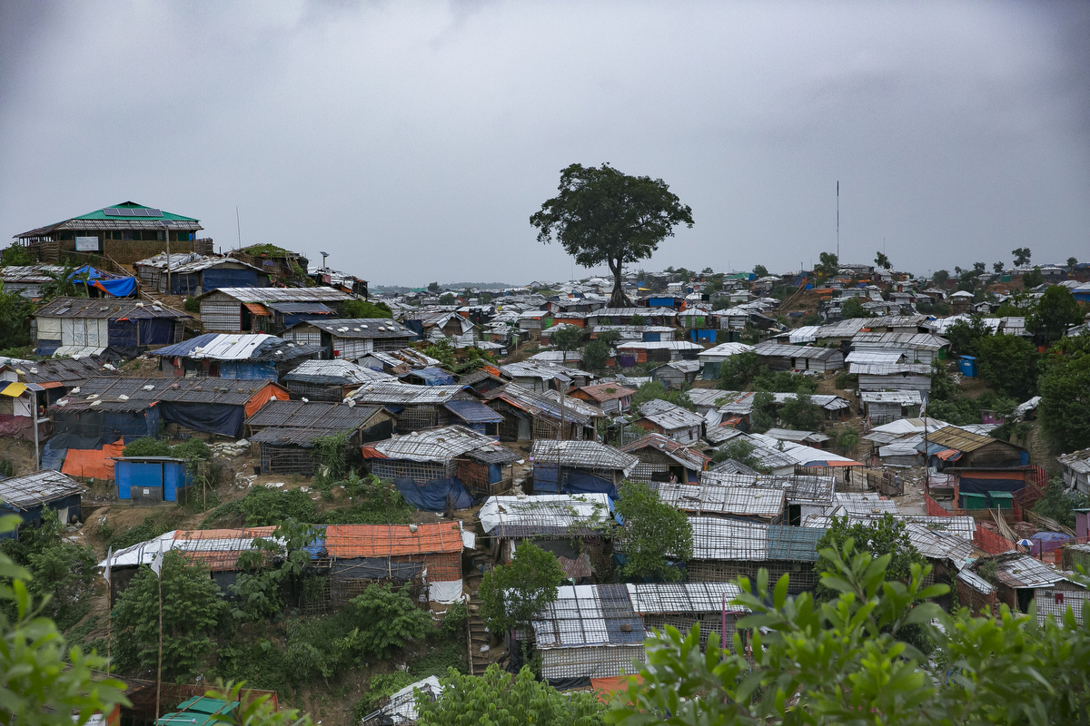 Kutupalong Rohingya refugee camp in Cox's Bazar, Bangladesh