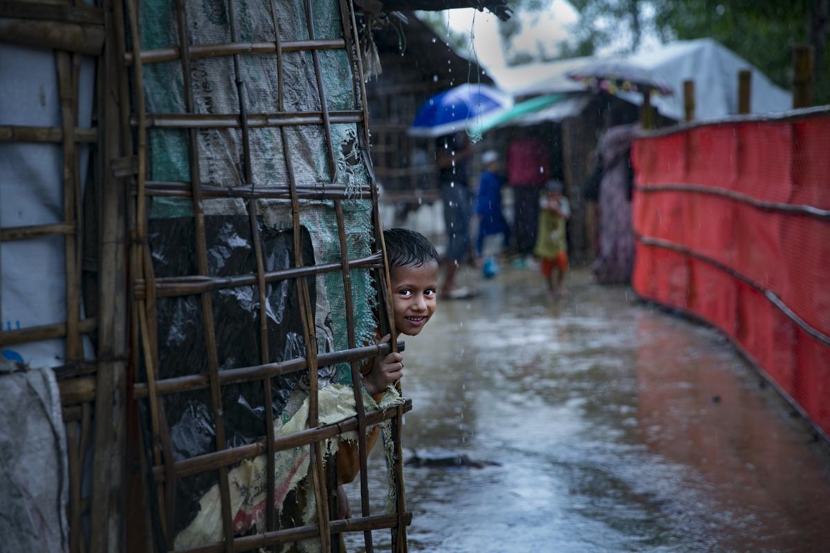 Women are seen in Nayapara Rohingya refugee camp in Cox's Bazar, Bangladesh