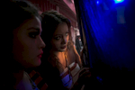 Girls backstage before a fashion show in the Jaintia Hills