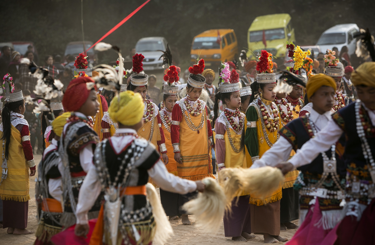 A traditional Khasi dance