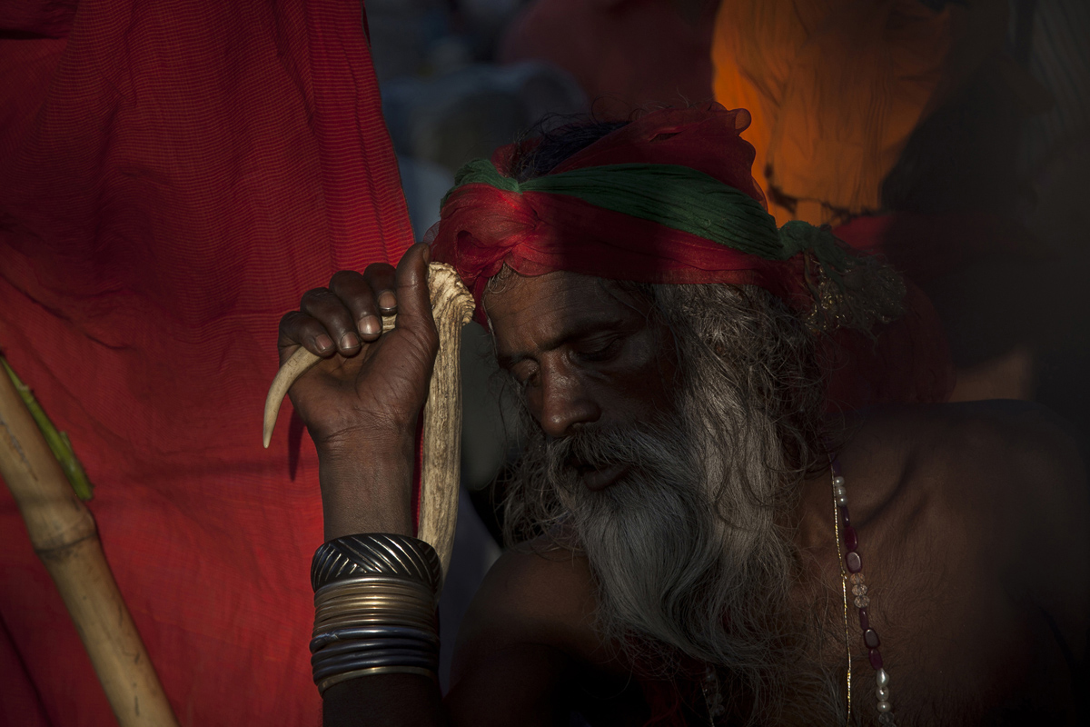 A festival goer is seen during the 124th annual Lalon festival in Kushtia, Bangladesh. The Lalon Shah festival is an annual festival celebrating the life and death of Fakir Lalon Shah, who was a Bangladeshi mystic, baul, philosopher, musician, writer and advocate of religious tolerance. Buddhists, Hindus and Muslims follow his teachings and attend the festival, which comprises of 3 days of music, dance, and consumption of marijuana, which is referred to as {quote}siddhi{quote}, or enlightenment.