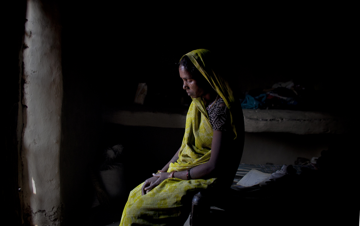 Leela Wati is photographed in the Sonbhadra district of Uttar Pradesh, India.