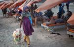 Johanara sells items on the beach