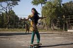 Maisha skateboards after tutoring